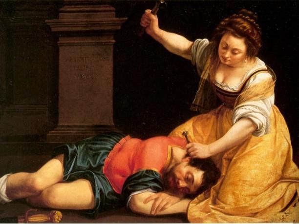 Giaele e Sisara, di Artemisia Gentileschi