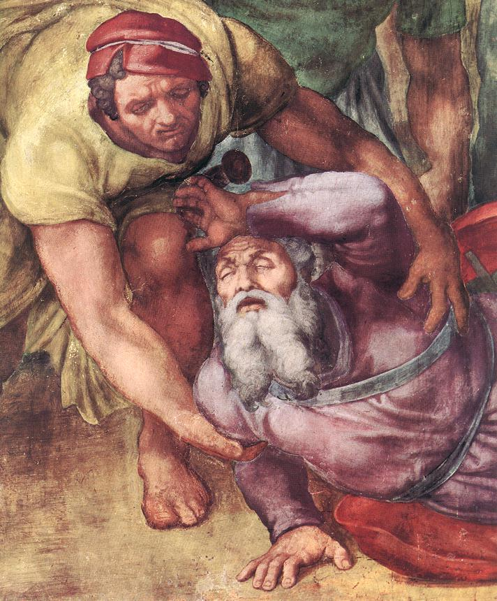 Michelangelo,  Conversion de saint Paul ( 1 543 environ ) dans images sacrée MichelangeloConversione-di-san-Paulo-1542-1545-